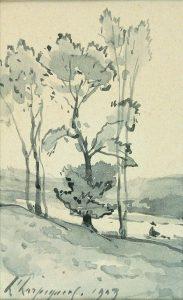 Henri Harpignies, Paysage, 1903.