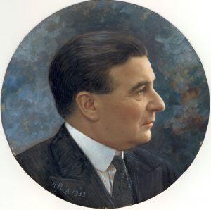 Emile Loiseau's portrait, 1933.