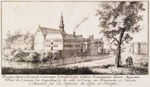 Le couvent des Augustins au début du XVIIe siècle, estampe ( archives départementales de la Nièvre).