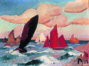 Jules-Emile Zingg, Marine à la Clarté, début XXe siècle.