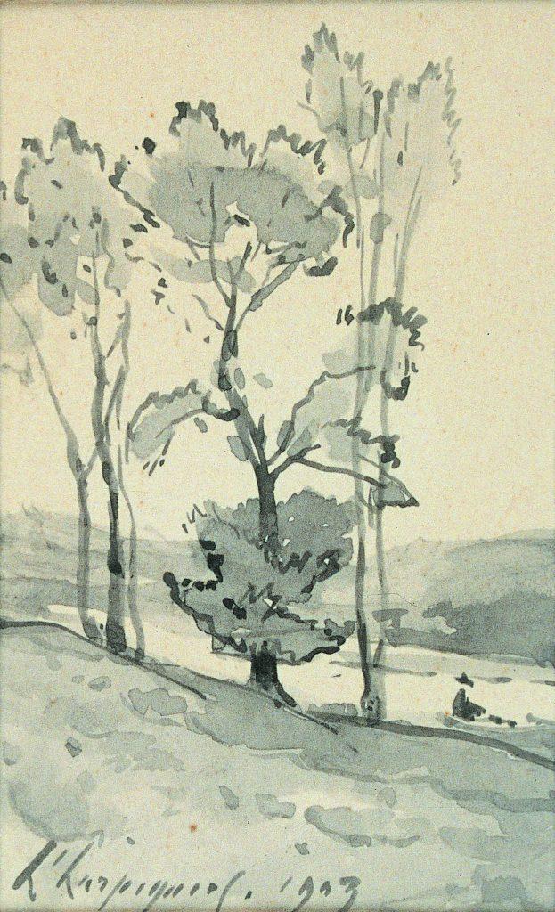 Henri Harpignies, Paysage