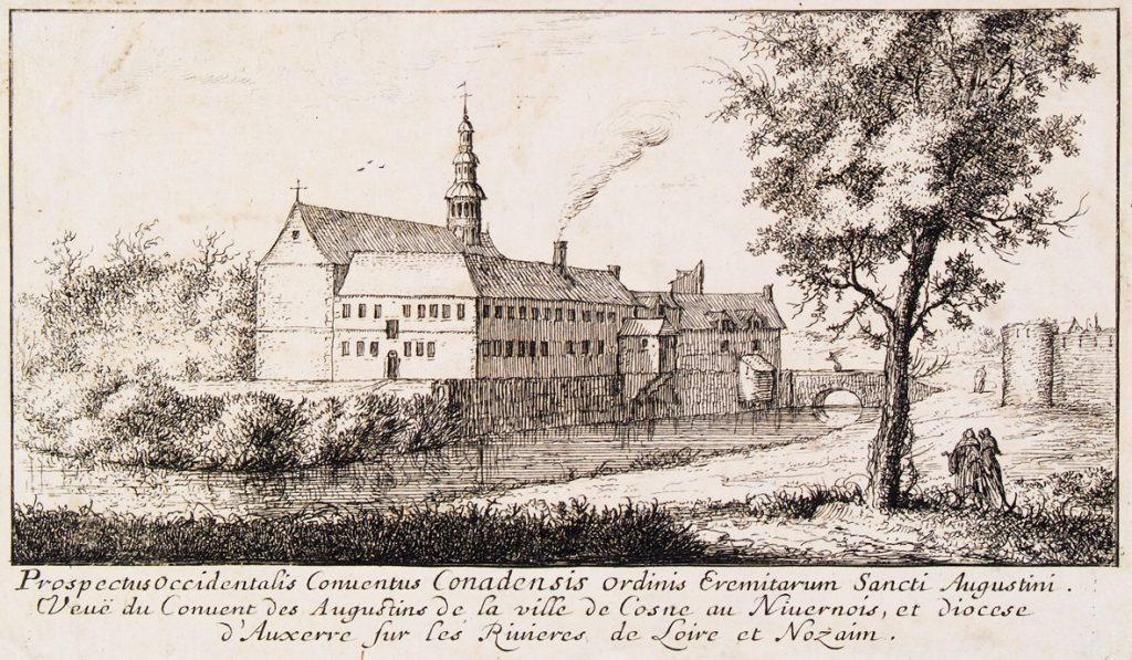 Le couvent des Augustins au début du XVIIe siècle, estampe