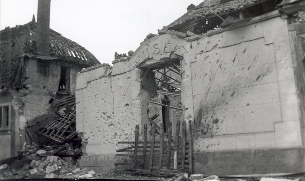 L'ancien musée bombardé