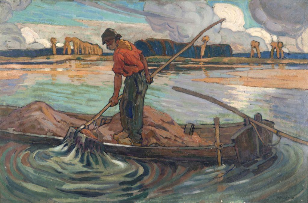 Eugène Messemin, Tireur de sable, huile sur toile