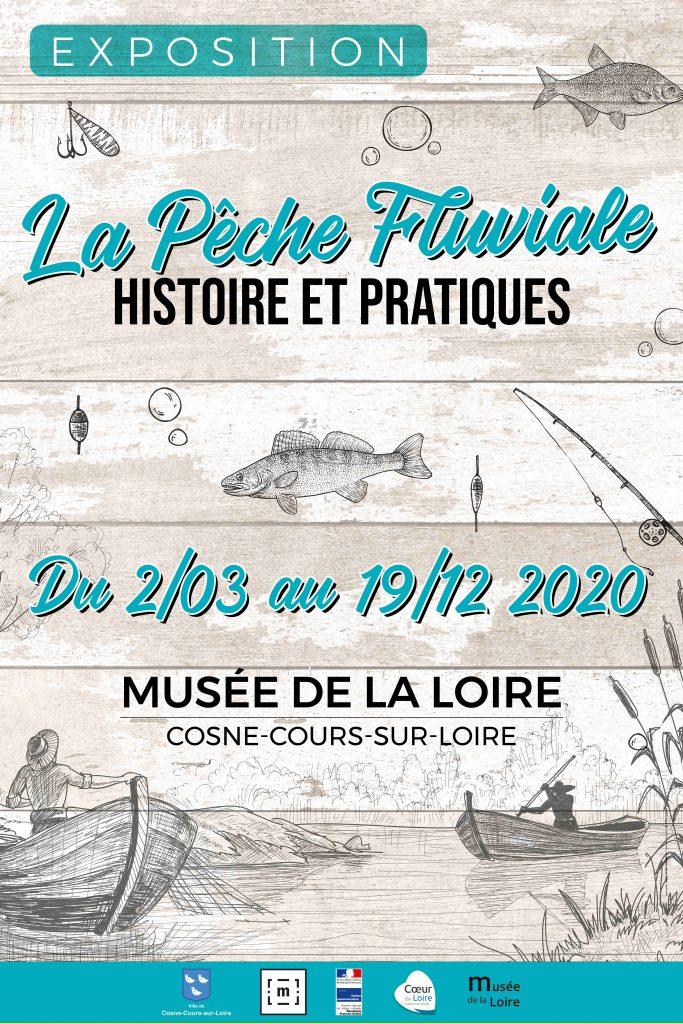 Affiche expo La pêche fluviale, histoire et pratiques au Musée de la Loire jusqu'au 19 décembre 2020