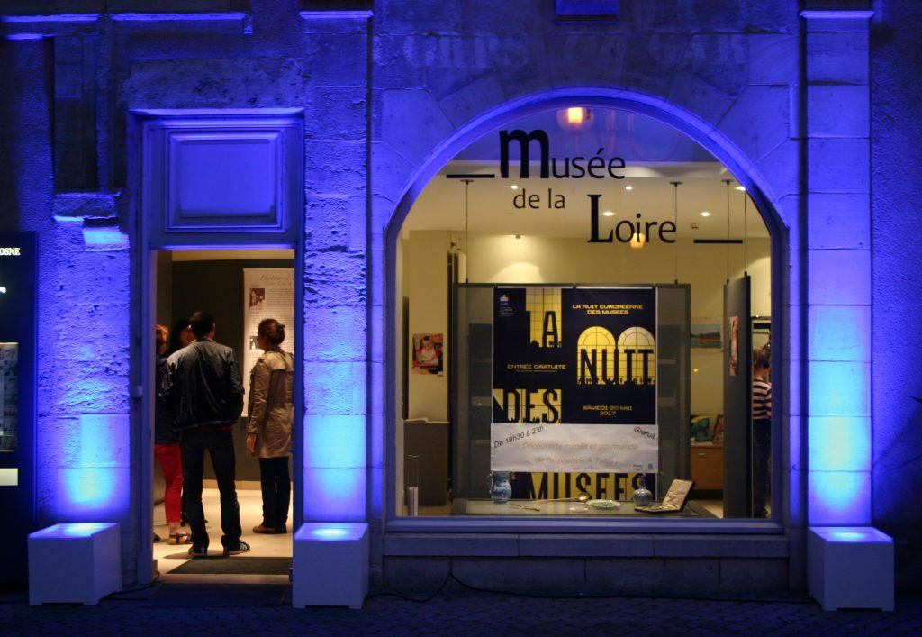 Mise en lumière du musée lors de la Nuit des musées