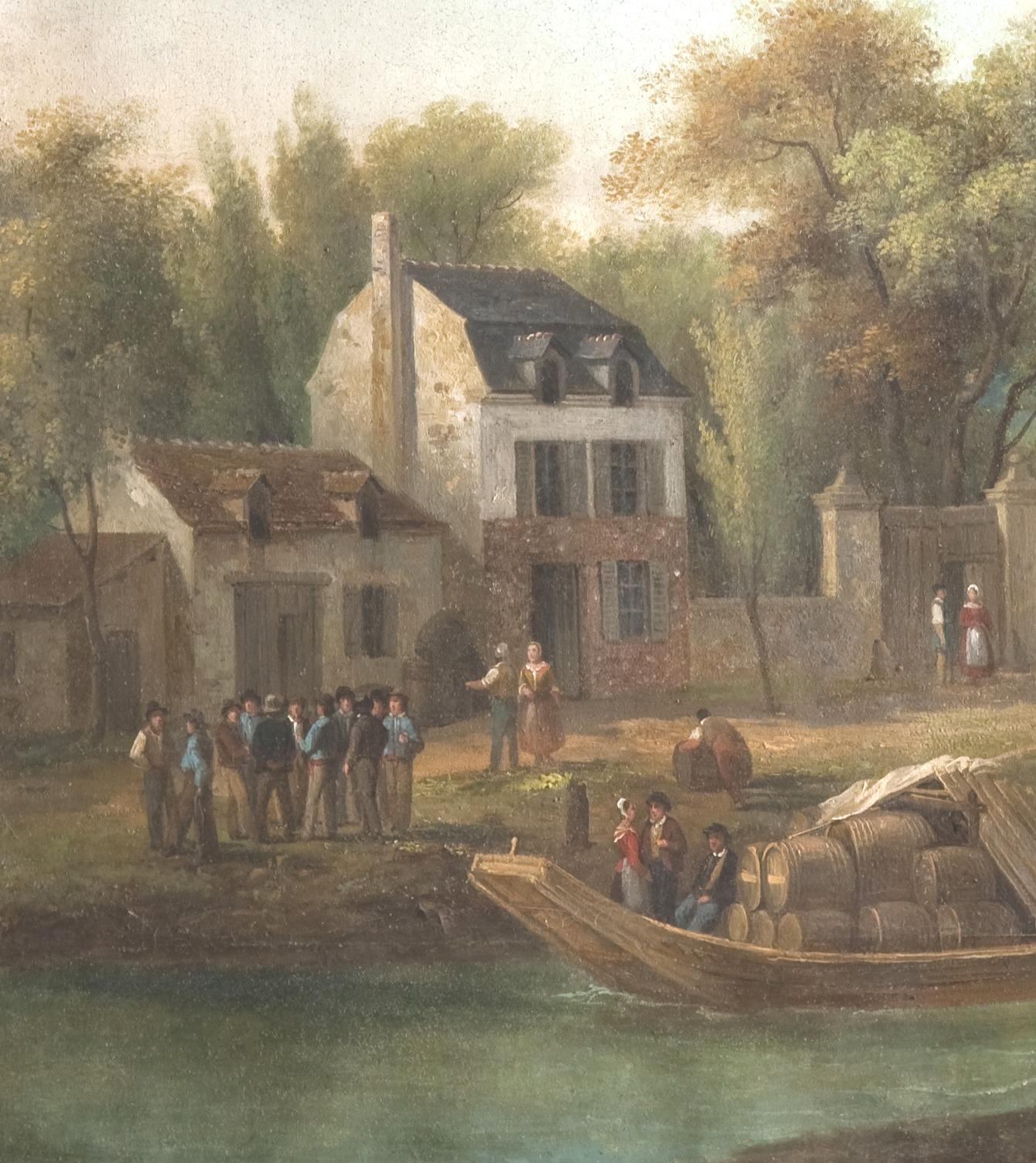 Enseigne d'auberge (détail), Collection musée de la Loire