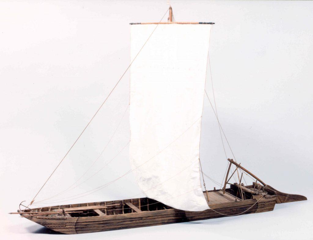 Maquette d'un chaland de Loire, Musée de la Loire, COATP 997