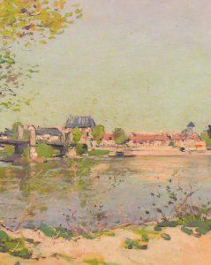 Albert Dardy Bords de Loire, Vue de Cosne-sur-Loire, Coll. Musée de la Loire